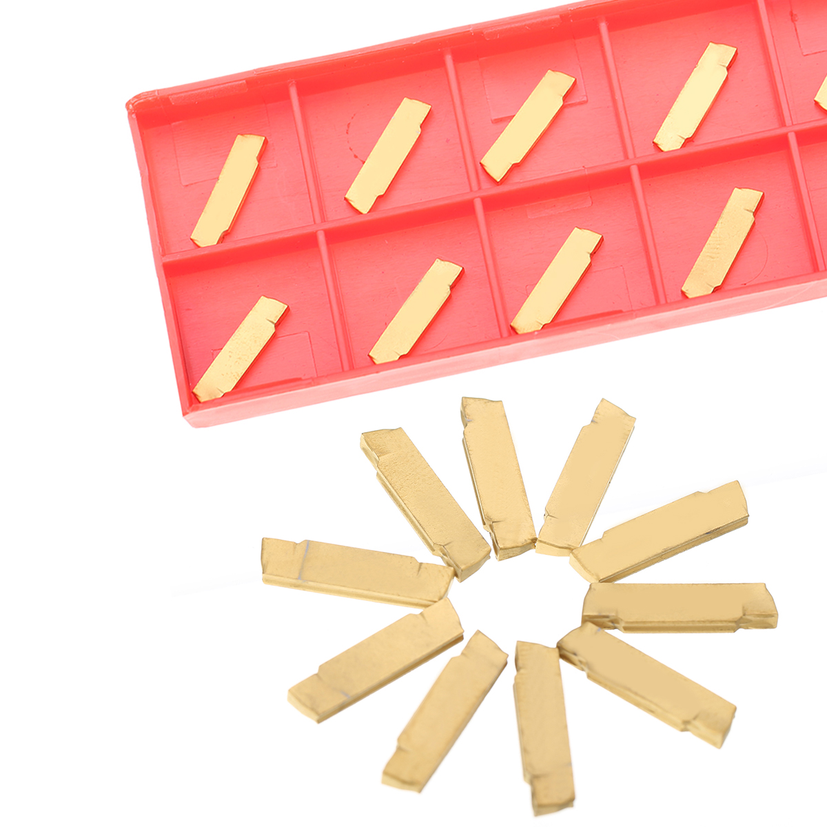 10pcs MGMN200-G Carbide Inserts 2mm Thickness Golden Cutter Parting off Blades for MGEHR/MGIVR Grooving Cutting Tool10pcs MGMN200-G Carbide Inserts 2mm Thickness Golden Cutter Parting off Blades for MGEHR/MGIVR Grooving Cutting Tool