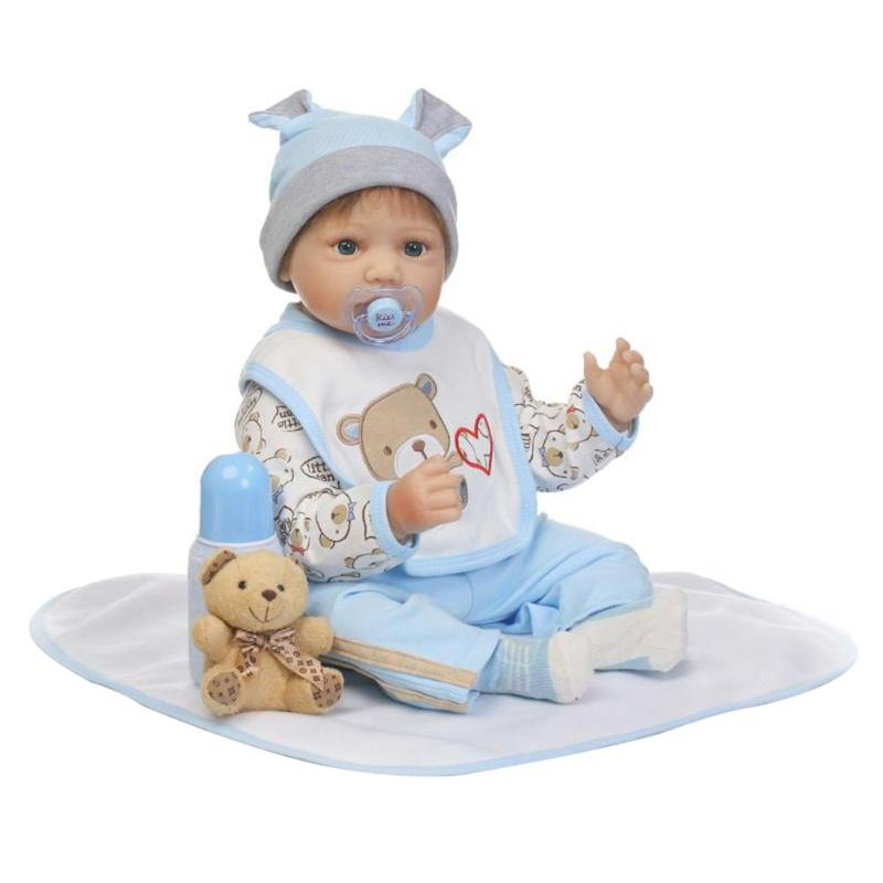 NPK Lovely Simulation Reborn Baby Doll Kids Sleeping Playmate Silicone Toys lovely simulation reborn baby doll kids sleeping playmate accompany silicone toys lifelike children high quality toys gift