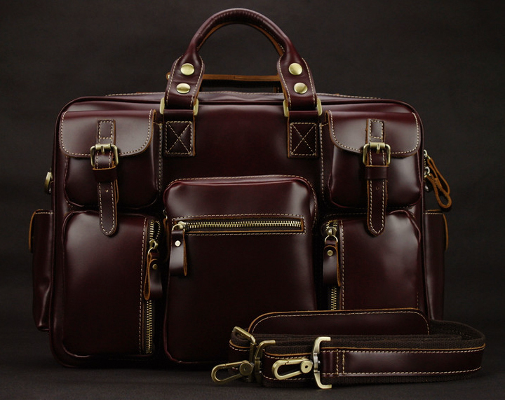 Genuine Leather Men Travel Bags Luggage