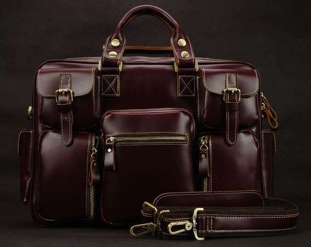 Luxury Genuine leather men travel bags luggage Bag Large Men duffle bag weekend leather travel bag Overnight tote Big M038