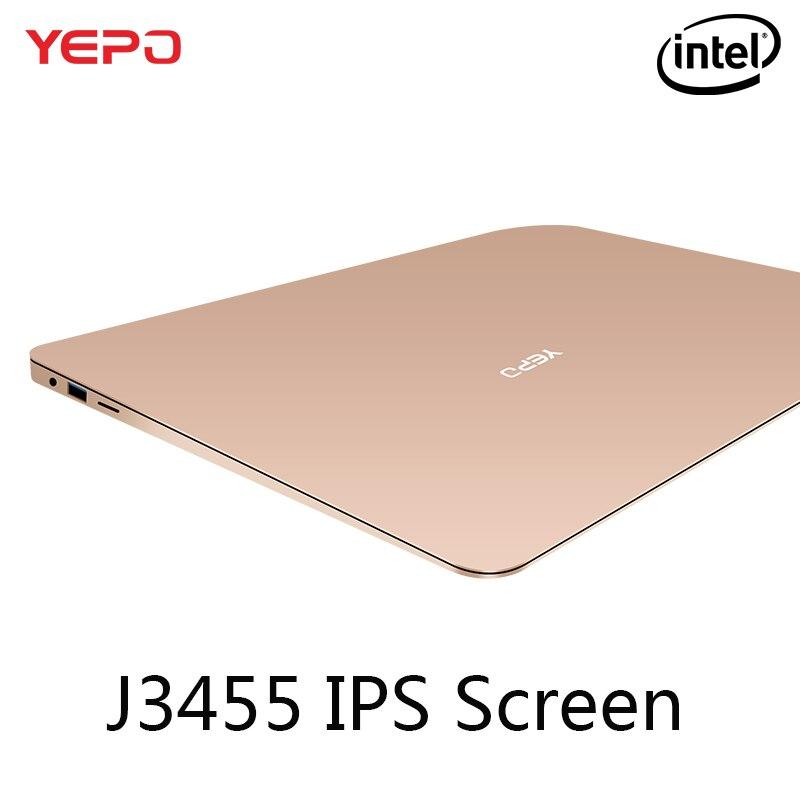 YEPO 737A N3450 portátil Apollo 13.3 pulgadas Portátil Intel Celeron Notebook Quad Core 1.1 GHz 6 GB de RAM 64 GB de máster erasmus mundus con M.2 SATA SSD ranura
