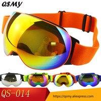 High Quality Double Layers UV400 Anti Fog Big Ski Mask Glasses Skiing Men Women Exchangeable Snow