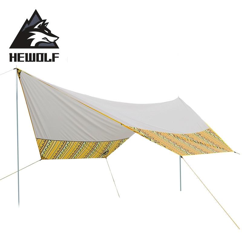 Hewolf abri solaire ultraléger 5 8 personnes auvent extérieur tente plage Pergola auvent bâche grand Camping abri solaire bâche étanche