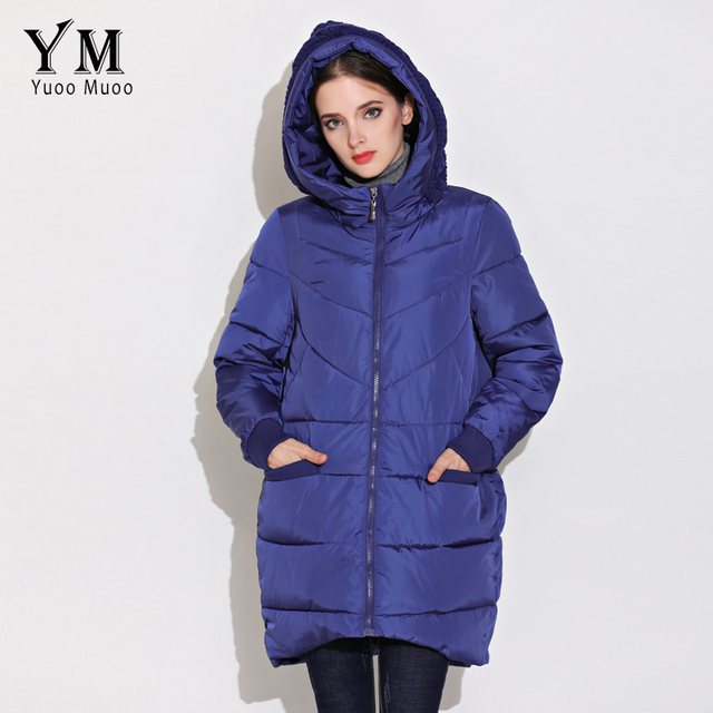 YuooMuoo New High Quality Fashion A-line Women Coat Winter Warm Wadded Jacket Elegnat Windproof Parka Female Jacket Hot Sale