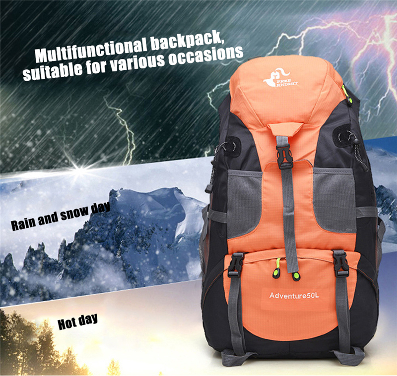 New 50L & 60L Outdoor Backpack Camping Climbing Bag Waterproof Mountaineering Hiking Backpacks Molle Sport Bag Climbing Rucksack