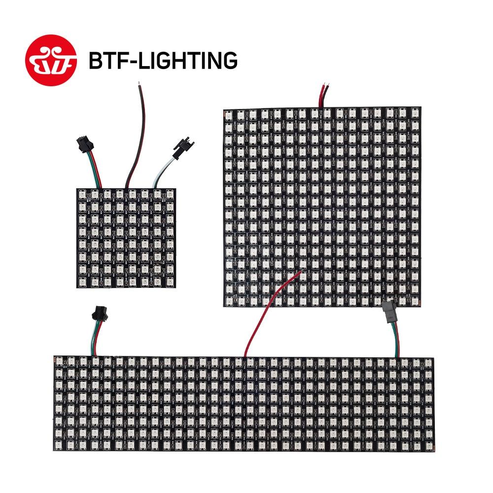 WS2812B Panel Screen 8*8,16*16,8*32 Pixel 256 Pixels Digital Flexible LED Programmed Individually Addressable Full Color DC5V
