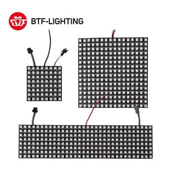 8*8,16*16,8*32 Pixel 256 Pixels WS2812B Digital Flexible LED Programmed Panel Screen Individually Addressable Full Color DC5V digital clock