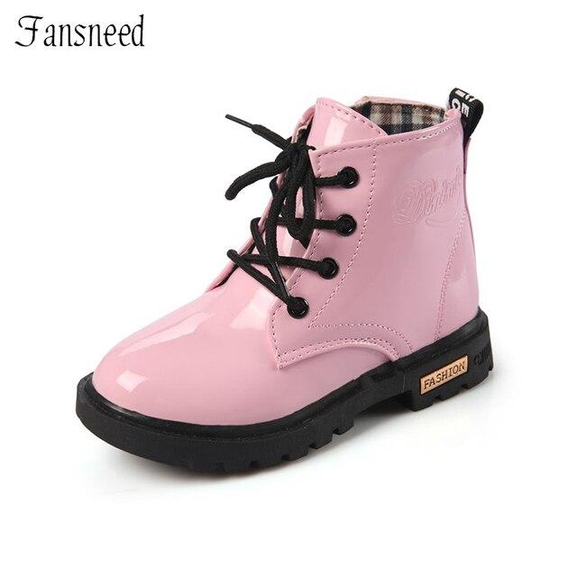Новые детские кожаные ботинки девочки для верховой езды ботинки для  мальчиков обувь маленькая девочка Весна и 178acc5d25b04