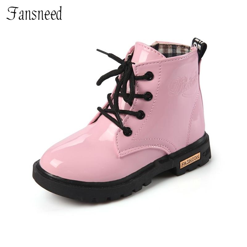Sepatu bot kulit anak-anak baru, Perempuan sepatu bot anak, Sepatu anak laki-laki, Gadis kecil musim semi dan musim gugur sepatu bot musim dingin