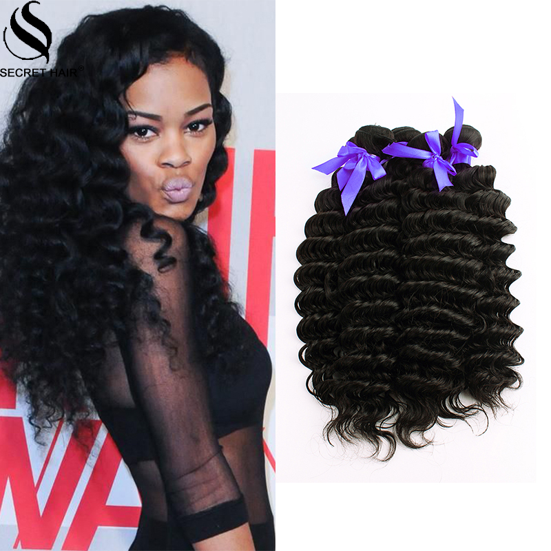 Indian Virgin Hair 5 Bundles Deep Wave Hair Style 100 Natural Black
