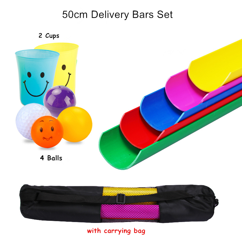 50cm Delivery Bars with bag Outdoor Games Sport Toys Team Working Cooperation School Parents and Kids Party Games 4 Balls 2 Cups