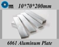 10 70 200mm Aluminum Alloy 6061 Plate Aluminium Sheet DIY Material Free Shipping