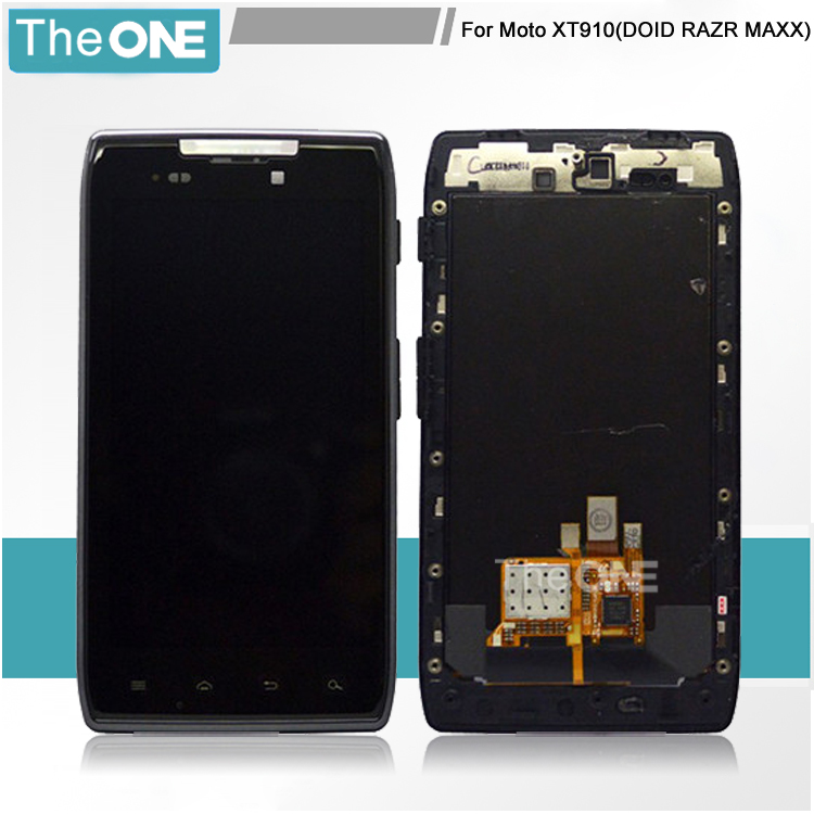 ФОТО Black For Motorola Droid Razr MAXX XT910 XT912 LCD Display +Touch Screen With Digitizer Assembly +Frame Free Shipping