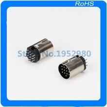20 unids/lote metal 13 PIN DSCT 13 07FS DIN macho enchufe adaptador de montaje