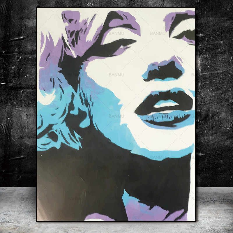 Wall poster decoration for living room Canvas painting Wall Art Picture prints Marilyn Monroe on canvas home decor no frame