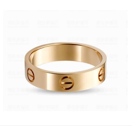 Top Titanium Steel Carter Love Rings For Women Men Couples Anel Cubic Zirconia Wedding Rings Bands