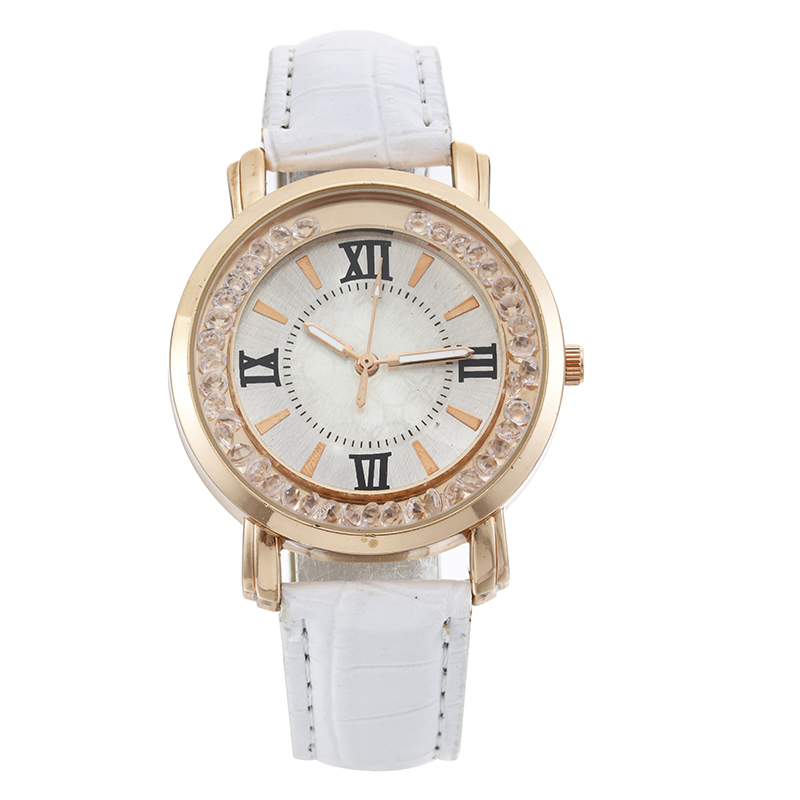 Women Rolling Ball Watches Women Fashion Casual Leather Quartz Watch Ladies Elegant Simple Dress Wrist Watch Relogio Feminino in Women 39 s Watches from Watches