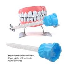 50 шт./упак. стоматологический 1 мм впечатление советы по смешиванию временные силиконовой резины диспенсер пистолет советы по смешиванию