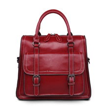 2016 hot style Han Fengzhen female bag, purse, the outermost layer of skin leather handbag, locomotive package, handbag
