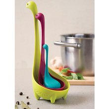 HOT Lovely Baby Nessie Creative Multifunction Tea Infuser Turquoise Large Spoon Loch Ness Monster Tool Car Articles Family Gift