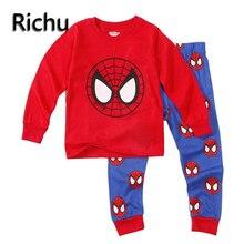 Enfants garçons vêtements de noël ensemble spiderman pour garçon 3 année onesie enfants thanksgiving outfit garçons filles de vêtements de nuit pyjamas 2 pcs
