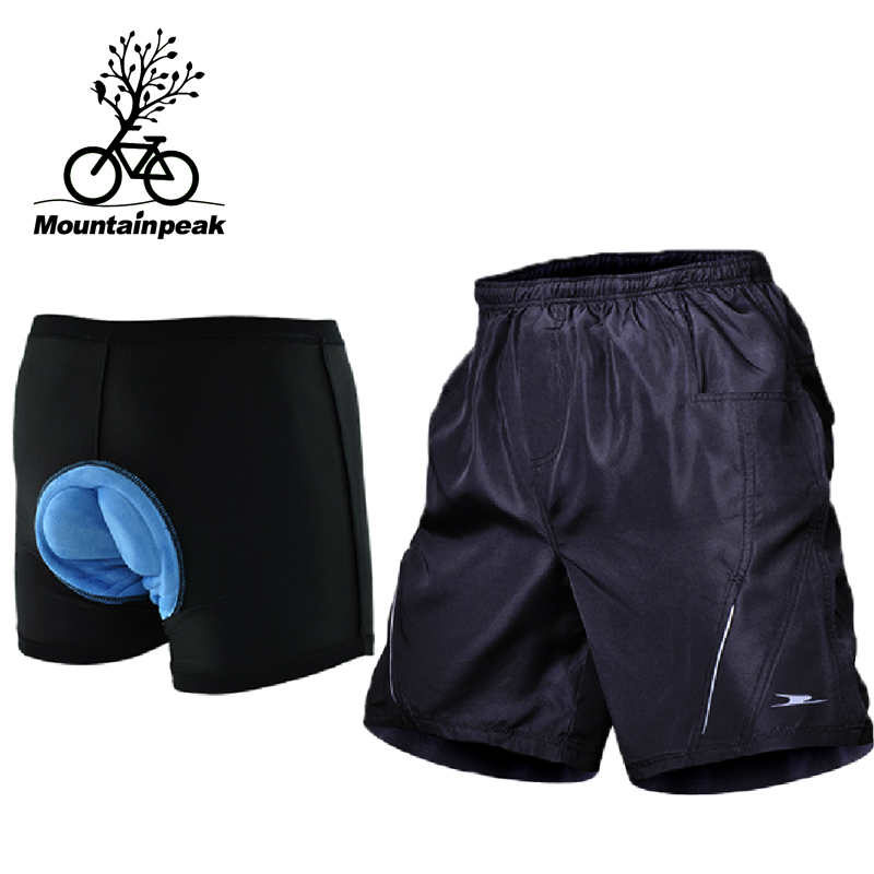 Mountainpeak Riding Shorts Bicycle Equipment Cycling Shorts Men Breathable 3D Padded Cycling Underwear Shorts for MTB Road Bike santic men s cycling hooded jerseys rainproof waterproof bicycle bike rain coat raincoat with removable hat for outdoor riding