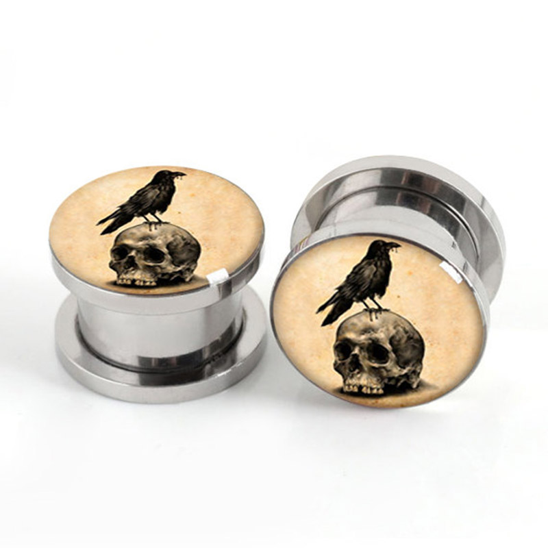 gauges stainless steel ear plugs flesh tunnel ear expander