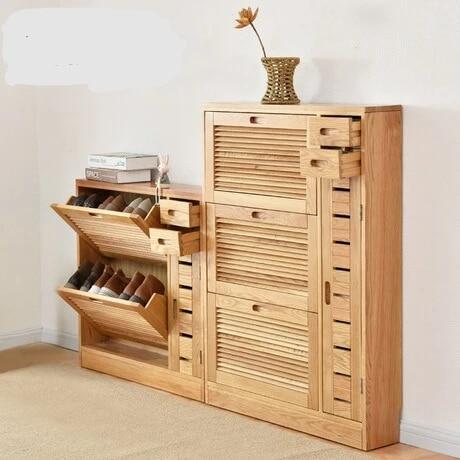 meuble de rangement pour chaussures armoire a chaussures assemblage de meubles de maison volet en bois massif organisateur de chaussures