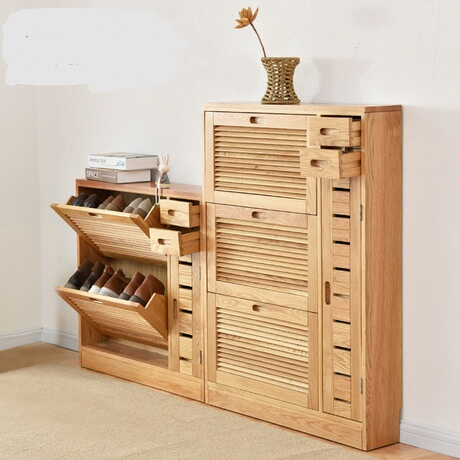 Shoe Cabinets Shoe Rack Living Room Furniture Home Furniture Assembly Solid  Wood Shutter Door Shoes Rack Part 41