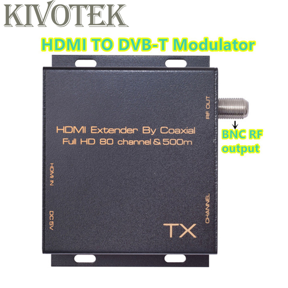 все цены на KIVOTEK New HDMI TO DVB-T Modulator Transmitter 80 Channels by RF coaxial cable 500m DVB-T CATV Transmission Mode Free Shipping онлайн