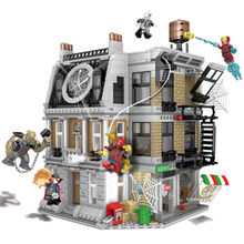 Brinquedos Compatível Legoings 10840 Infinito Guerra Sanctum Sanctorum Spidermans Building Block Showdown Marvel Avengers homem De Ferro(China)