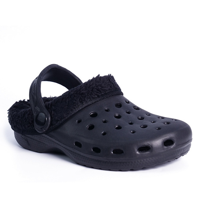 Original Slippers Kids Croc Clog Shoes Winter Casual Classic Boys Girl  Children Fuzz Lined Sneakers Winter f64327e07631
