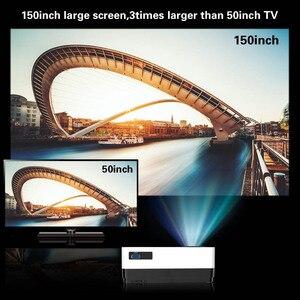 Image 4 - CRENOVA أحدث HD 1280*720p عارض فيديو مع نظام أندرويد 6.1 OS واي فاي بلوتوث 4300 لومينز السينما المنزلية فيلم العارض