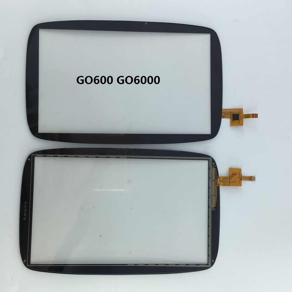 GPS touch screen Digitizer Glass Sensor Replacement parts 6 inch for TomTom GO 6000 600 touch screen replacement module for nds lite