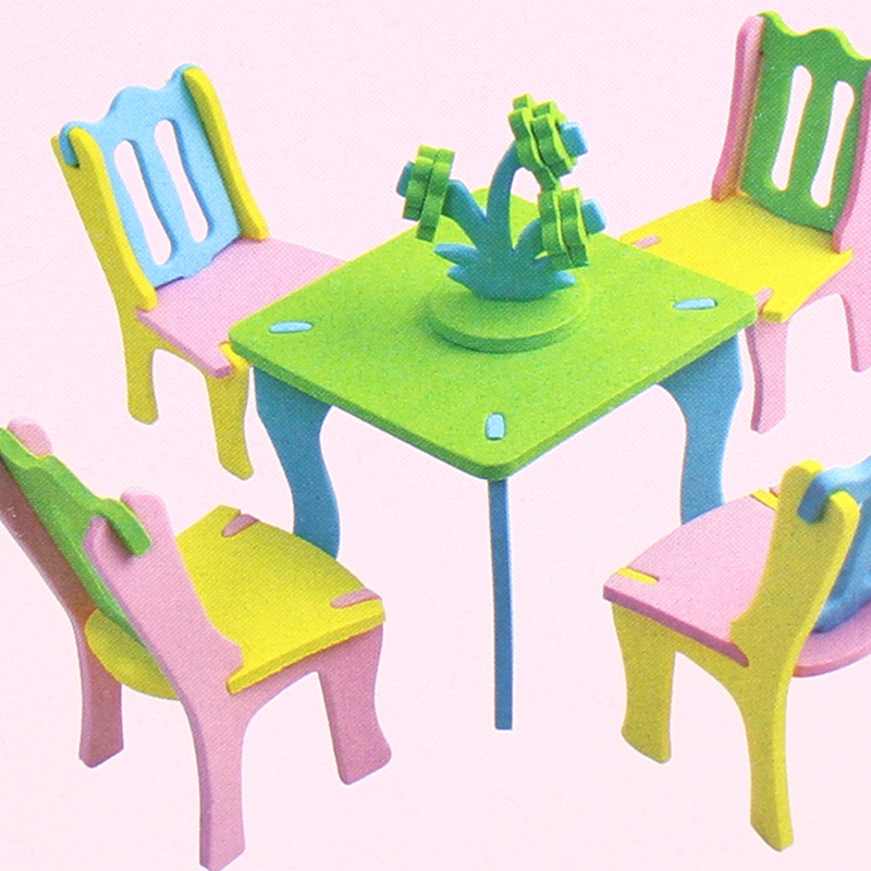 Doll Furniture For Sale Part - 17: Hot Sale EVA Toys DIY 3D Handmade Furniture Assembly Families Miniature  Chair Miniature Dollhouse Furniture Accessories