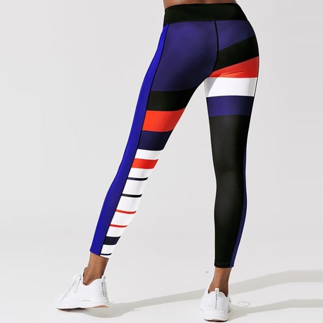 Women's Color Block Style Sports Leggings XS-XL