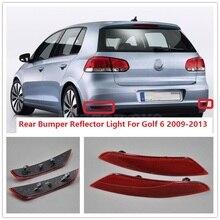 Для VW Golf A6 MK6 2009 2010 2011 2012 2013 автомобиль-Стайлинг задний бампер угловой отражатель декоративные накладные свет лампы