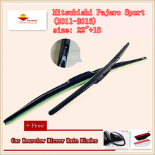 High Quality U-type Universal Car Windshield Wiper With Soft Natural Rubber For Mitsubishi Pajero Sport (2011-2016),size: 22″+18