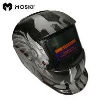 Moski, escurecimento automático solar mig mma máscara de solda elétrica/capacete/tampão soldador/lente de soldagem para máquina de solda