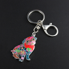 Unique Pug Dog Keychain Gift