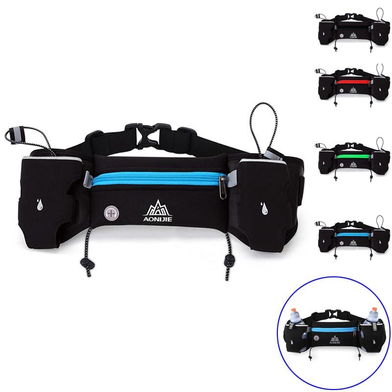 H New Men Women Outdoor Sports Waist Pack Hiking Racing Running Fitness Lightweight Bottle Water Belt Bag  88 Best Sale- New