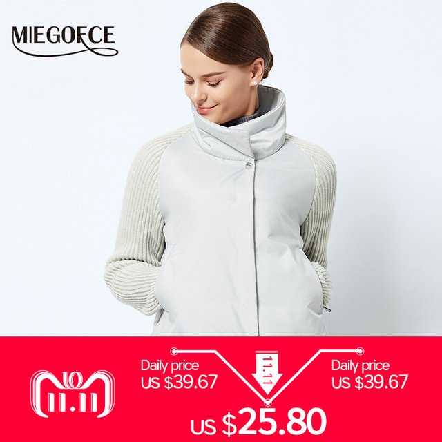 f4760ec5f MIEGOFCE 2018 Short Women's Coat And thin cotton padded jacket Spring  Women's Jacket Stylish With Collar New Spring Collection -in Basic Jackets  from ...