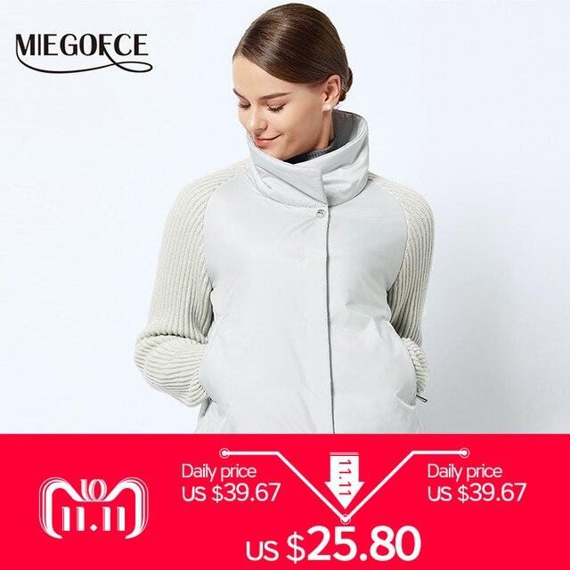 MIEGOFCE 2018 Короткий женский пиджак Весенняя стильная женская куртка с воротником Новая Весенняя коллекция