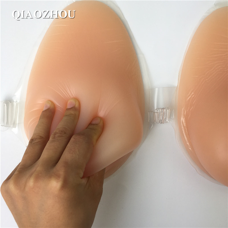 1600 g/pair large E cup fake silicon breasts strap on boobs for man crossdressing to female 300g pair self adhesive crossdressing fake breasts small size aa cup real soft silicon form boobs triangle shape