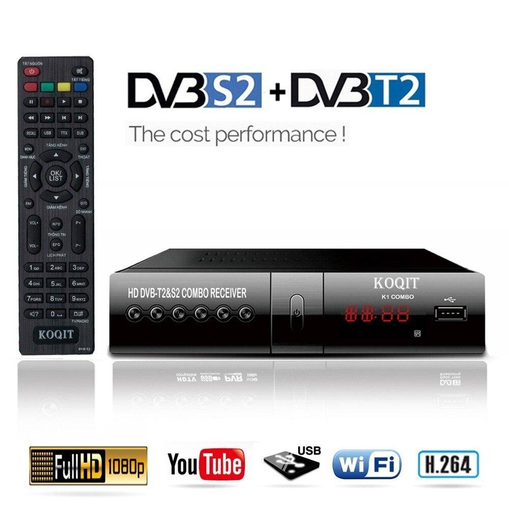 DVB-T2 Tuner Receiver HDMI HD 1080P DVB-S2 Satellite Receiver Decoder TV Box TV Tuner DVB T2 USB Wifi Built-in Russian Manual