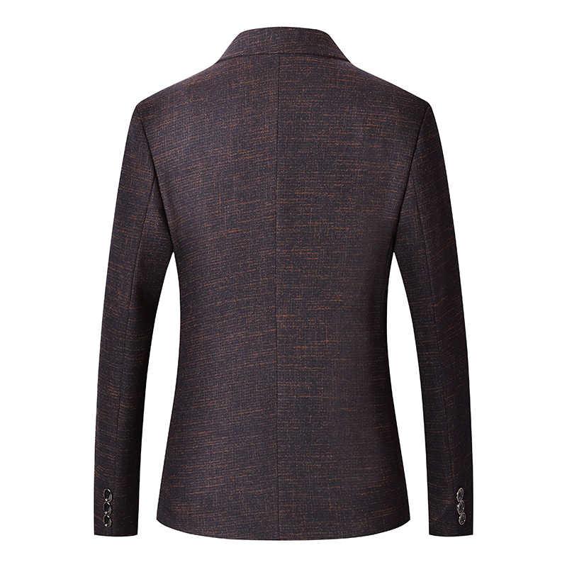 Mwxsd Casual para hombre Blazer chaqueta de oficina para hombre slim fit chaqueta blazer para hombre de lujo para boda chaqueta para hombre gris marrón traje