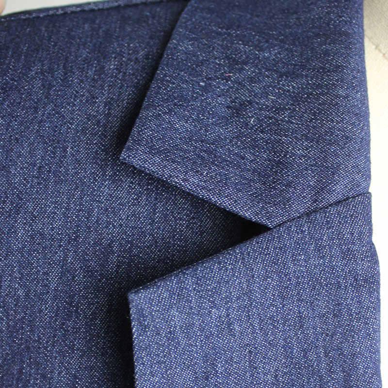2018 женский джинсовый комбинезон на молнии без рукавов длинные штаны цельнокройный комбинезон облегающая Повседневная летняя одежда синий