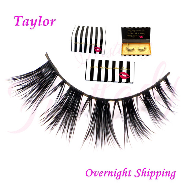 Free shipping new arrival 100% real mink strip lashes with luxury packaging