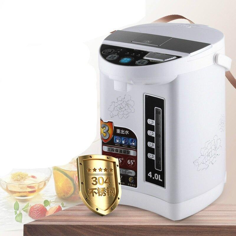 Électrique thermos bouteille d'eau la maison thermique isolation triple complet en acier inoxydable capacité Protection Contre La Surchauffe