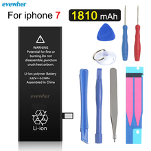 Evewher For iPhone 7 battery Replacement Phone Battery  for iPhone7 7G Real Capacity 1960mAh 0 Cycle Tool Kit Sticker Batteries